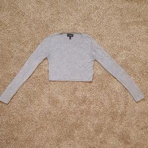 Topshop Wool Blend Crop Top